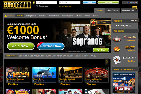 EuroGrand Casino screen shot